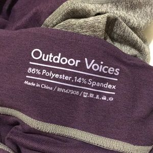 Outdoor Voices Pants - Outdoor Voices 3/4 Leggings